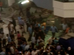 سقوط السقف في مول ستي مول